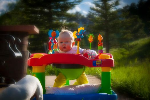 Colorful outside playtime by valkyrjan