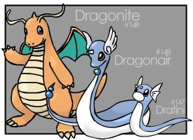 Dratini Evolutions by Tortie-Kittin