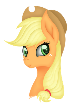 |Style Test|Applejack Portait by Victoria-Luna