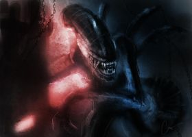 Alien Concept Painting by caseyhald