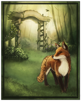 Fox in the Garden by Banthatic