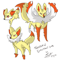 Pokemon: Fennekin Evolution Line Speculation by GJKou