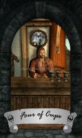 Skyrim Tarot - Four of Cups by Whisper292