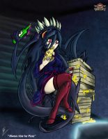 Fan-Art: Filia - Pizza and TV by ViroVeteruscy