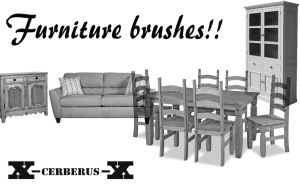Furniture brushes by X-Cerberus-X