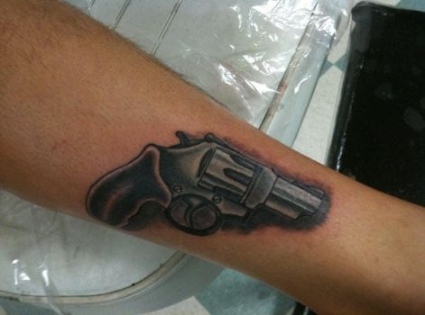 .38 special tattoo by redsamuraidragon