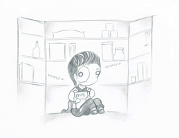 Erik in the Pantry by SasukeUchihable