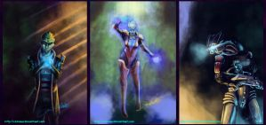 Mass Effect Speedpaints by chinara
