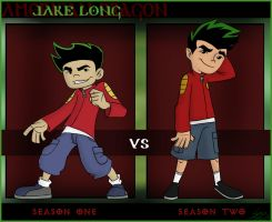 Jake Season 1 vs Jake Season 2 by Serge-Stiles