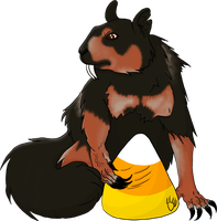 Halloween Squirrel by CalicoWoolfe