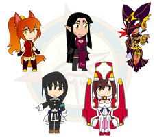 Assorted Chibis - Sorceress and... People by Dragon-FangX