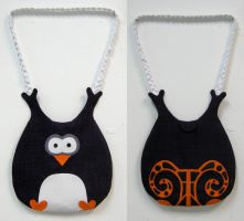 Purple Penguin or Owl Bag by vannesdesigns