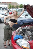 Winry... car mechanic? by LadyofRohan87