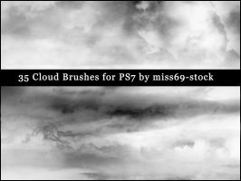 Cloud brushes EXCLUSIVE by miss69-stock
