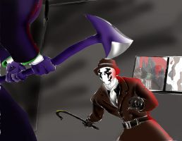 Unlikely band: Joker meets Rorschach(Colored) by Omnipotrent