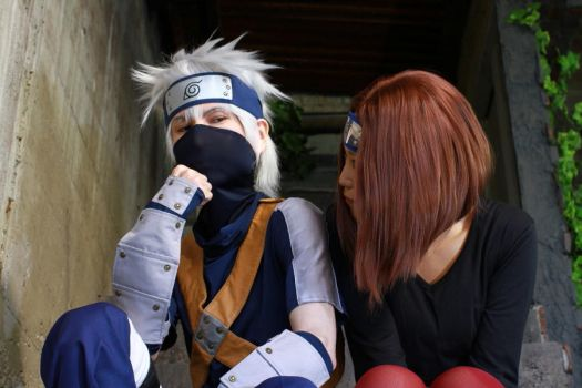 Kakashi and Rin by SanetomoIjuin