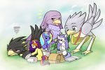 Commission Fillies and Chocobos healing time by HowXu