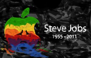 Sad Apple - Steve Jobs Tribute by netodalbon