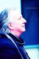 Alan Rickman, blue edition by MarySeverus