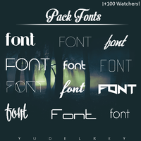 Pack Fonts by YuDelRey