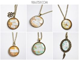 motivating quotes- all pendants by yiea