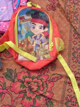 Backpack of Jake and the Neverland  pirates by 1987arevalo