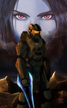 The Chief And Cortana by Teban1983