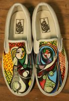 Girl Before a Mirror Vans by PattersonArt