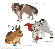 Animals_adoptables_ CLOSED by LewKat