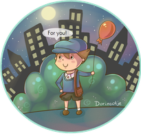 Luke - A balloon for you! by Dorinootje