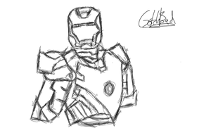 Simple sketch of Iron Man by Gotchabad