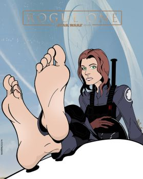 Bootless Jyn Erso by sandrock74