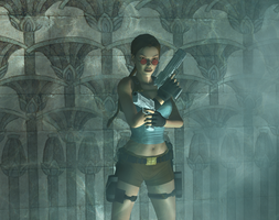 Egypt pool room by tombraider4ever