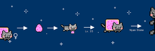 Nyan Cat Evolution by URAdoodlelover2