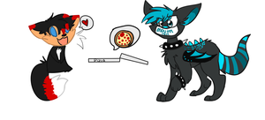 Commission for burnt-sonic and AT for Splatter-Mut by lonely-galaxies