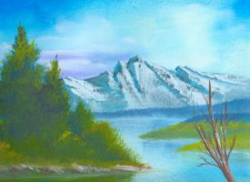 Tranquil Spring Mountain by darkqiviut