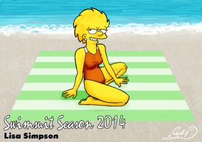 Swimsuit Season 2014: Lisa Simpson by Chesty-Larue-Art