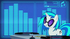 DJ Pon3 - FiM Version - DJ Wallpaper by Clone26