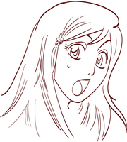 Orihime Inoue - Rough Line art by hmvr