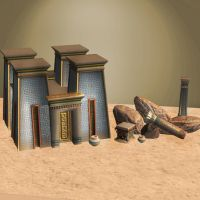 SMITE Egyptian scenery by ArmachamCorp