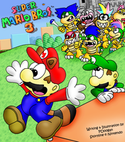 SMB3-Front Cover by PDoogan
