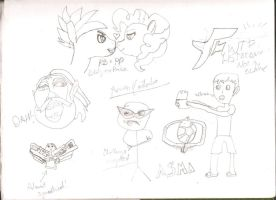 Not sure if Sketches, or just bit of drawings by AaronMon97