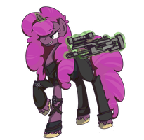 Paintblood's new gun. by InLucidReverie