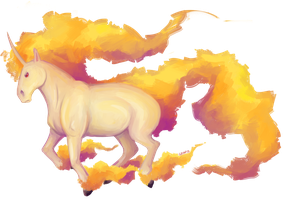 rapidash~ by GrimoireDays