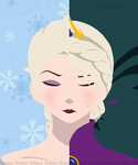 The Two Faces of Elsa by Ariaera