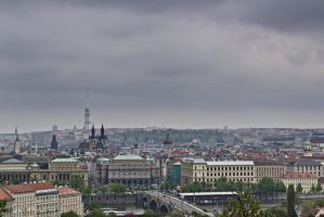 Stormy Prague's downtown by yasminsART
