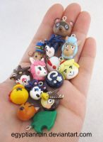 Animal Crossing New Leaf Charms by egyptianruin
