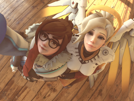 Mei and Mercy Selfie by Rocner