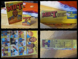 Mr. T Cereal Papercraft by giraffesonparades