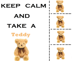 Keep Calm and Take a Teddy by StupidPoptart